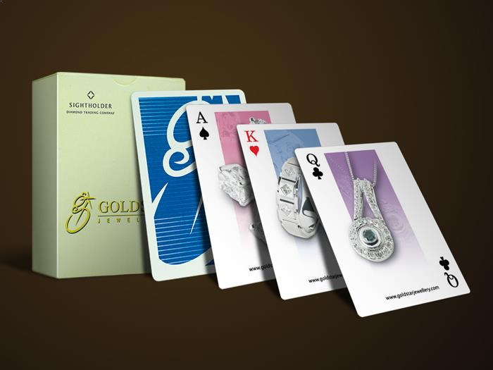 advertising playing cards